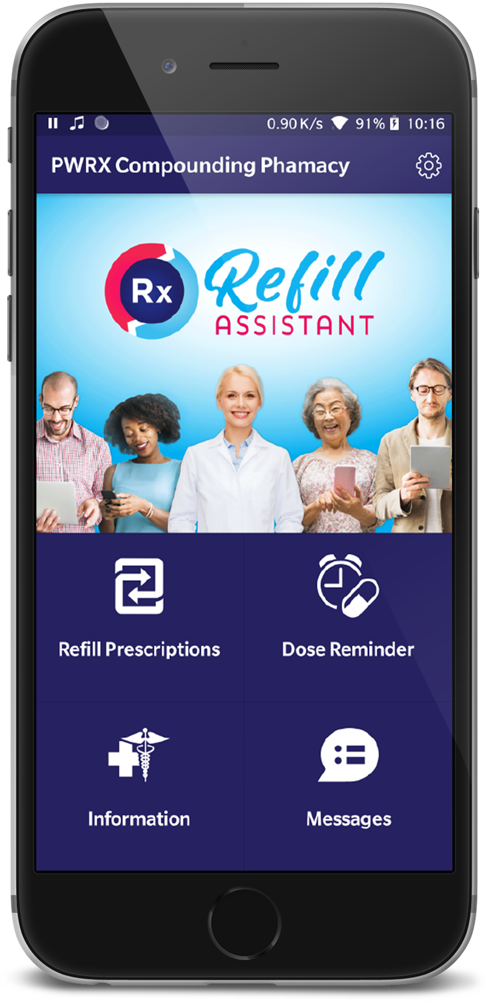 Refill Assistant App displayed on Phone